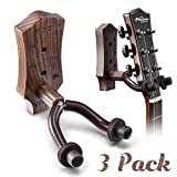 Guitar Wall Mount, Hard Wood Guitar Wall Hanger, Guitar Hook Stand Accessories for Acoustic Electric Bass Ukulele Guitar Holder (3...