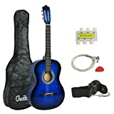 Smartxchoices Acoustic Guitar for Starter Beginner Music Lovers Kids Gift 38' 6-String Folk Beginners Acoustic Guitar With Gig...