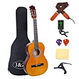 Classical Guitar Acoustic Guitar 3/4 Junior Size 36 inch Kids Guitar for Beginners 6 Nylon Strings Guitar Starter Kits with...
