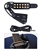 TraderPlus 12 SoundHole Guitar Pickup Acoustic Electric Transducer for Acoustic Guitar Magnetic Preamp with Tone and Volume...