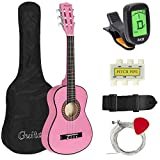 Best Choice Products 30in Kids Classical Acoustic Guitar Complete Beginners Kit w/Carrying Bag, Picks, E-Tuner, Strap...