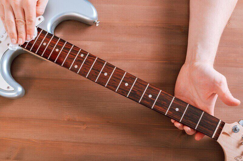 how to clean rosewood fingerboard